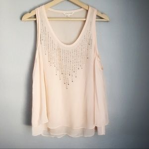 Rebecca Taylor | Beaded Peach Pink Blouse Top
